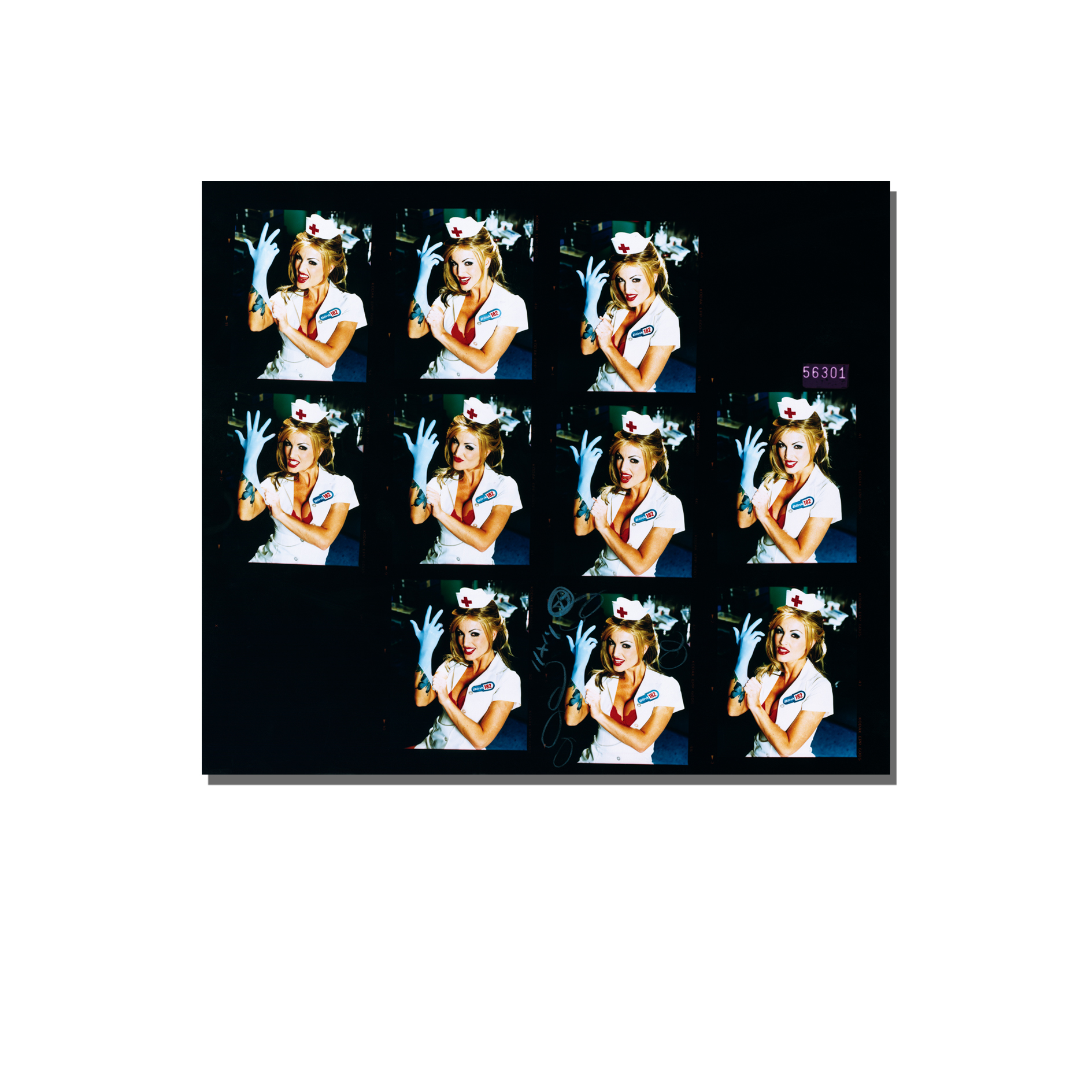 8x10 Blink-182 Contact Print w/Cover Album cover Image - David Goldman  Photography