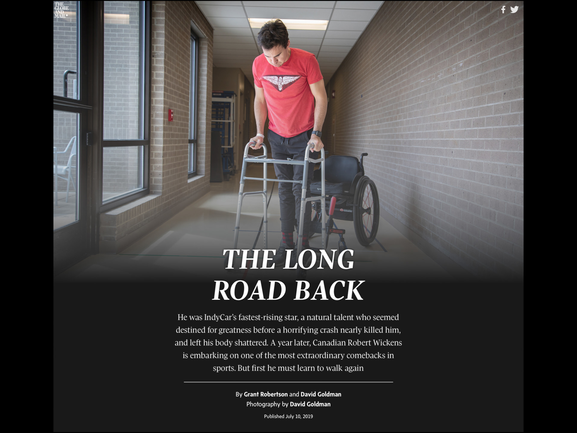 Robert Wickens for The Globe & Mail